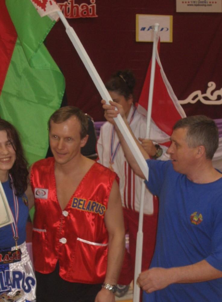 Belush with Coach Evgeni Dobrotvorski