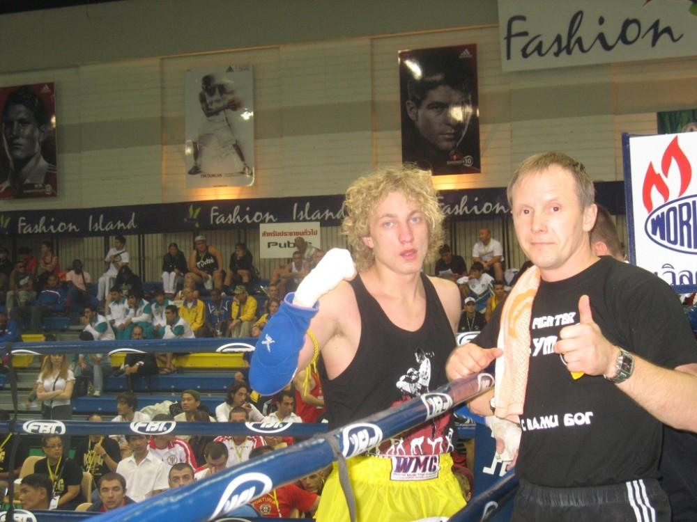 Varaxa Denis  & Coach Evgeni Dobrotvorski