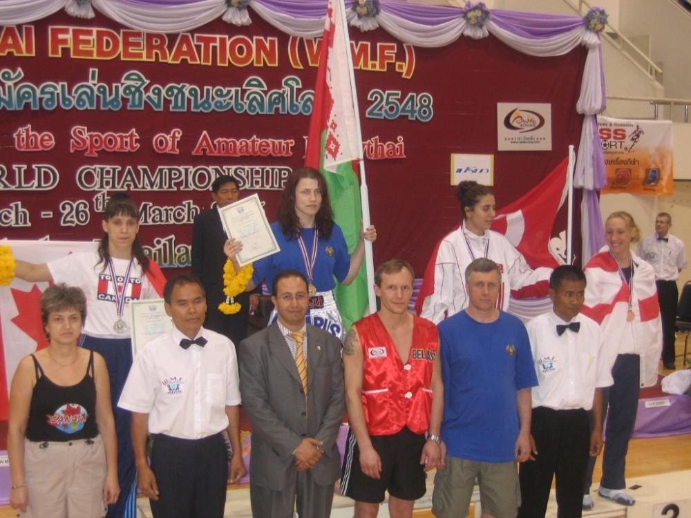 Маша - первая в Беларуси чемпионка мира по Муай Тай