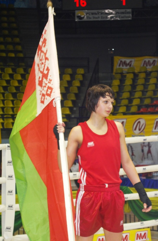 Флаг и чемпионка