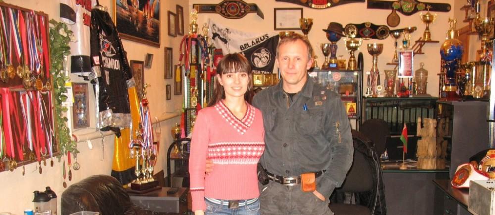 Маша и тренер Добротворский Е.Г.