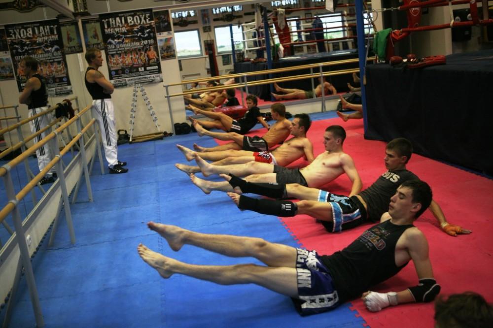 Тренировку проводит Заслуженный тренер
